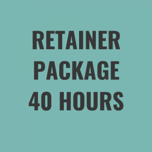retainer package 40 hours a month